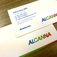 Business card print ALCANNA