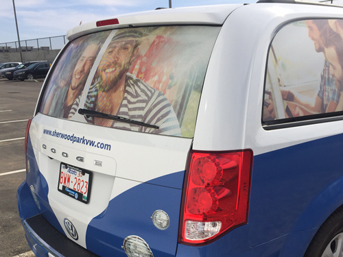 Vehicle Graphics Installation Perforated Window Graphics Vehicle Wraps Perforated Window Graphics Car Magnets Fleet Graphic Management